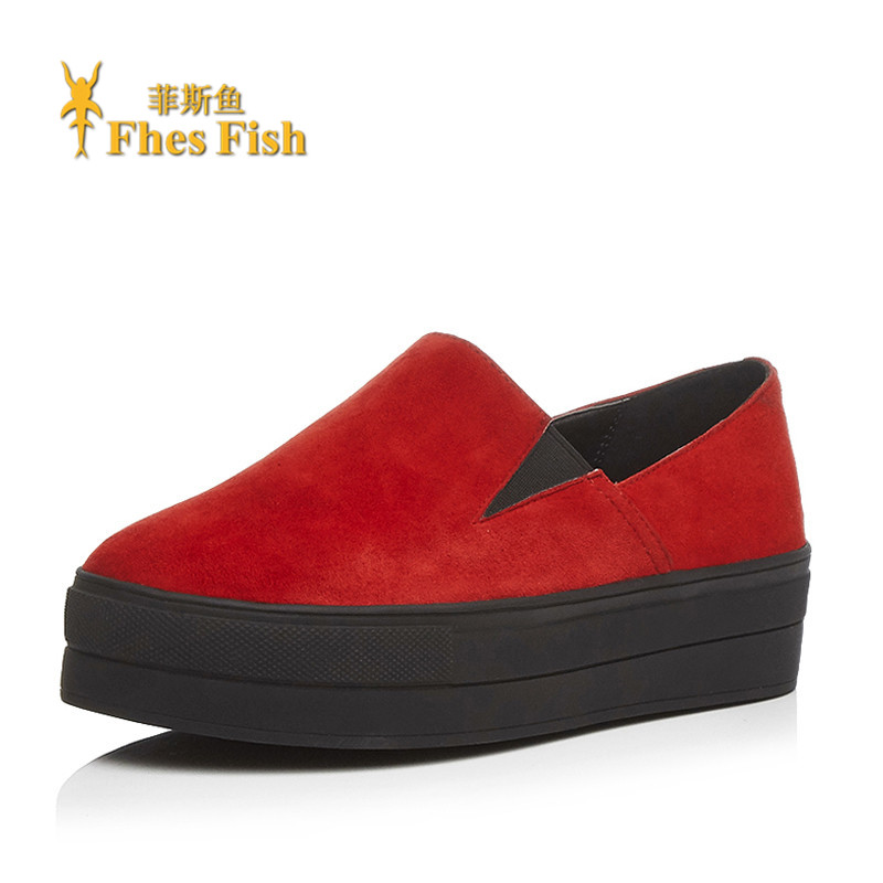 End custom brand fhesfish korean version of the new lok fu shoes deep mouth round low shoes solid set of feet