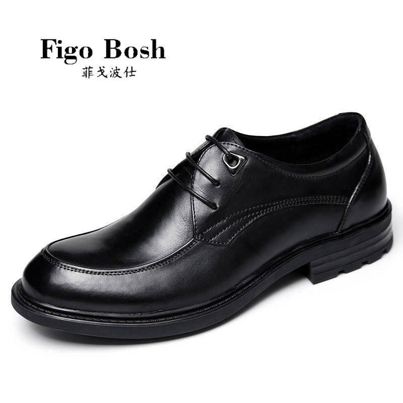 End custom brand figobosh 2016 autumn business suits men's leather lacing round breathable