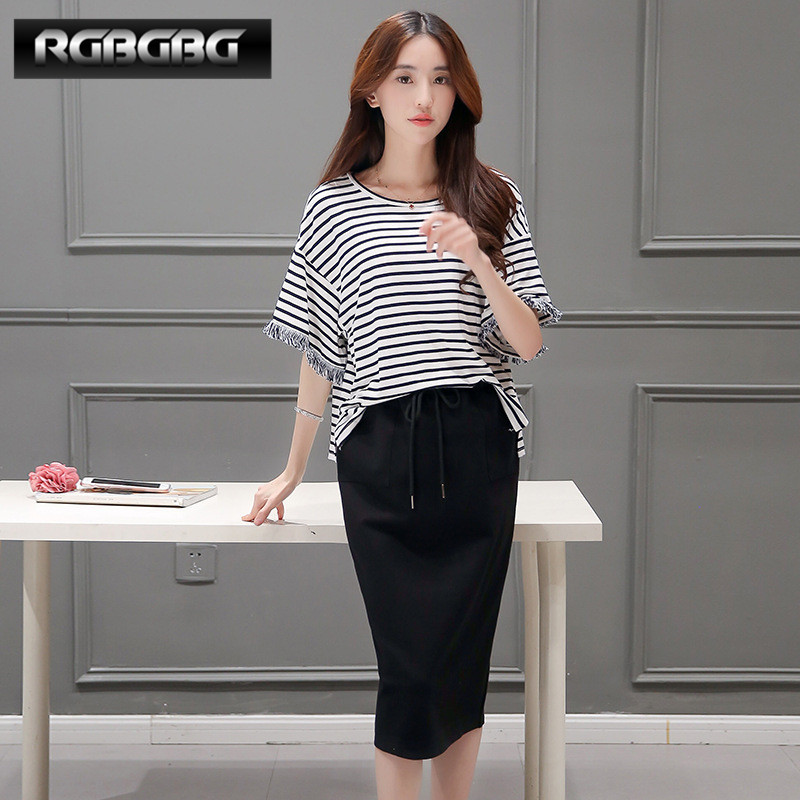 End custom rgbgbg 2016 summer new fashion simple casual striped pant suit piece