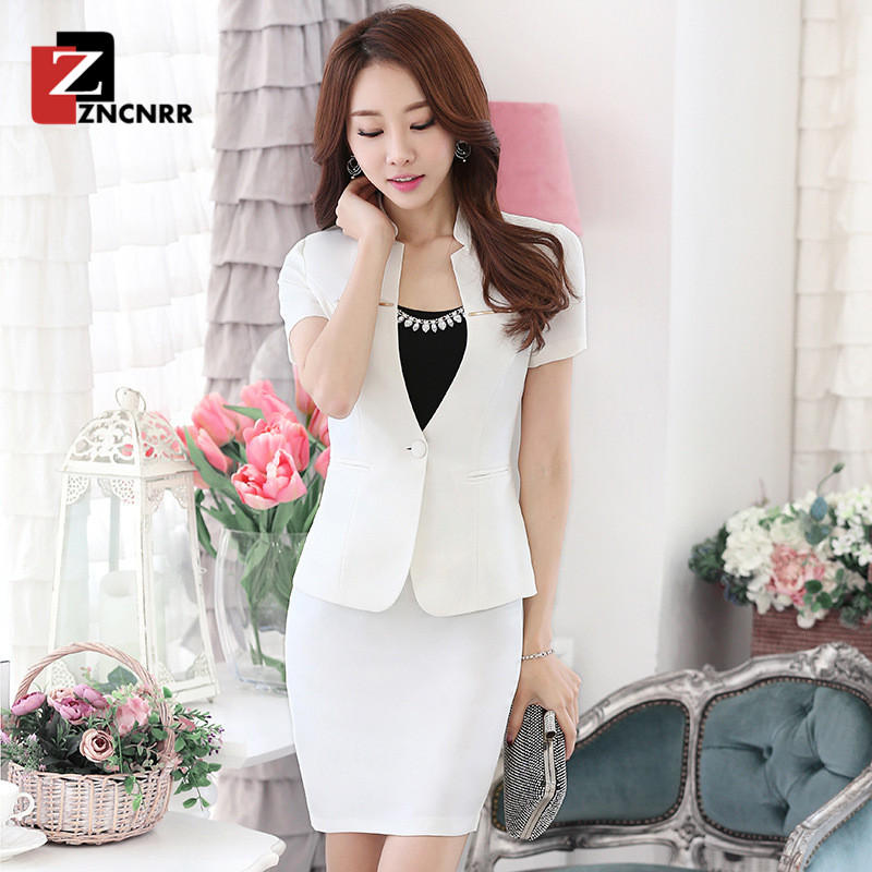 07f4596345f7 End custom zncnrr summer new fashion white collar business suits simple slim  career suits