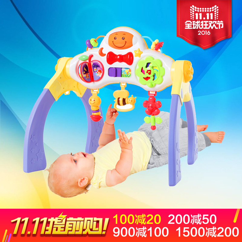 English fun happy british 389-foot 1-2-year-old ocean music fitness frame fitness frame baby multifunctional baby playground