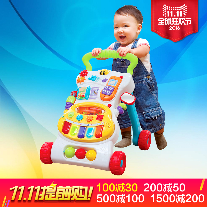 English fun walker stroller british 389-foot puff music multifunctional baby walker riding scooters driving 1-2-year-old Small train