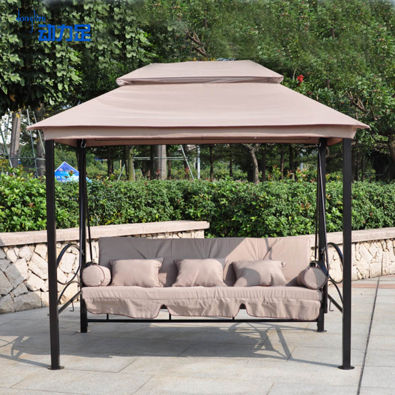Enough power tent double top four column outdoor awning awning outdoor pavilion pavilion rome garden positronic covered with a rocking chair