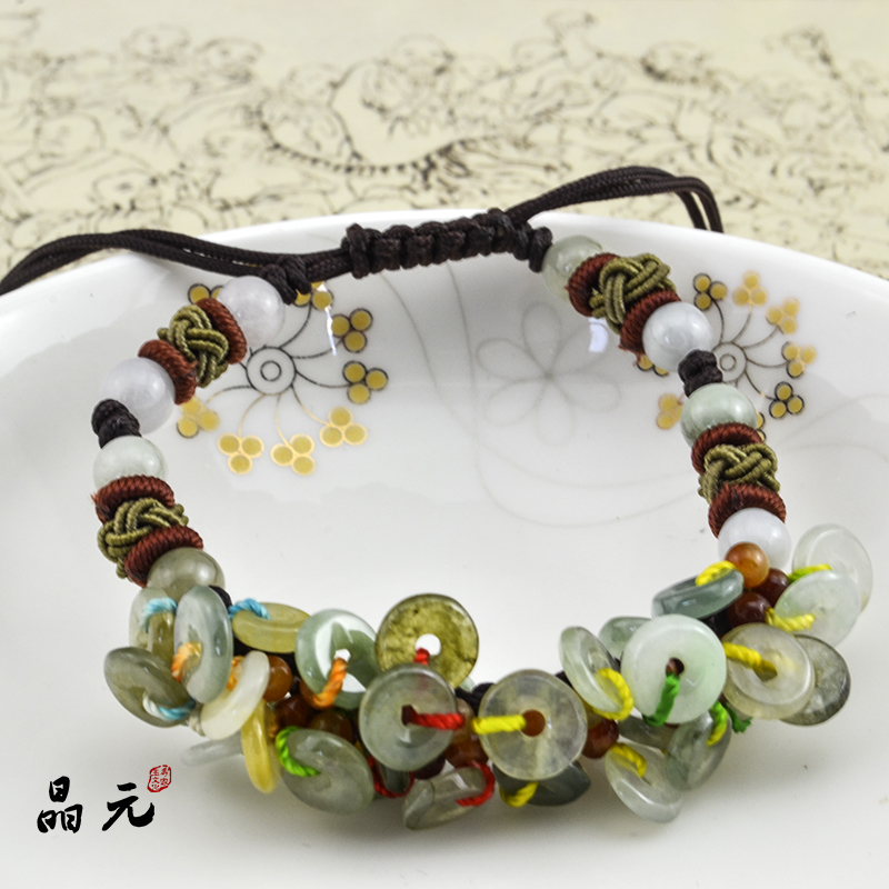Epistar shipping genuine natural burma jade a cargo jade bracelet jade bracelet peace stone bracelet male and female models