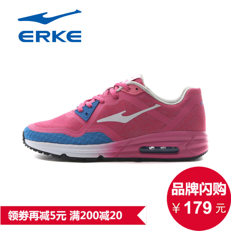 Erke shoes running shoes women shoes sneakers air cushion running shoes breathable mesh running shoes women summer season high reflective night