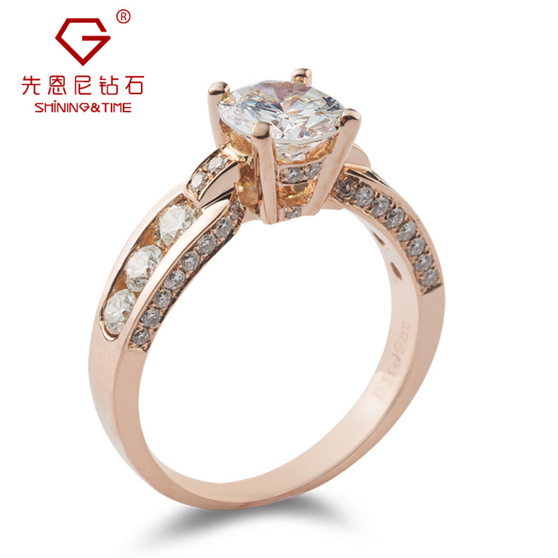 Ernie 18k-color gold female models diamond ring diamond engagement ring wedding ring diamond ring rose loose diamonds custom
