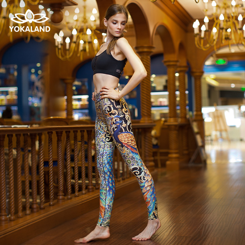 Eukanuba lotus 2016 new winter clothes yoga pants fitness pants pants female nine points skinny BPW060
