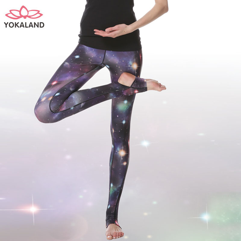 Eukanuba lotus yoga clothes 2016 new spring and summer yoga pants female printing slim step foot fitness jogging pants body pants
