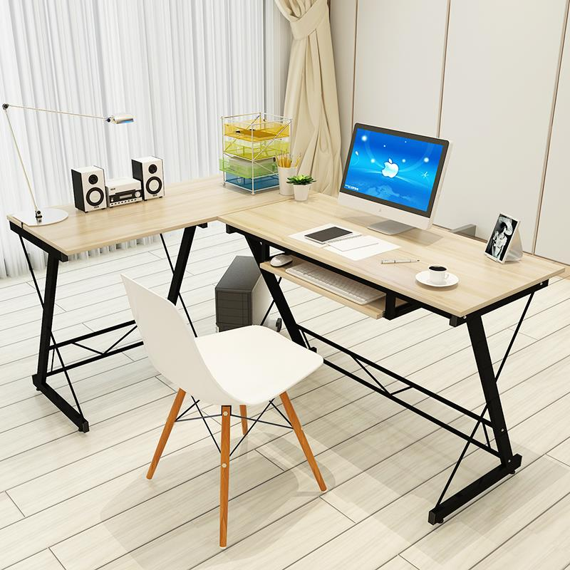 Europa lang simple home desktop computer desk office desk corner desk modern minimalist double computer desk