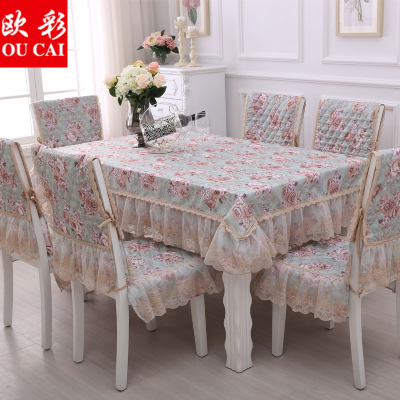 Europe color garden square tablecloth fabric table cloth upholstery coverings suit round european style lace tablecloth tea table cloth dining chair