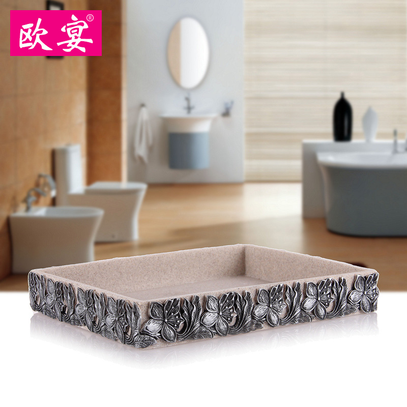 Europe feast bathroom wujiantao resin bathroom suite bathroom wash suit european creative suite bathroom with goods tray