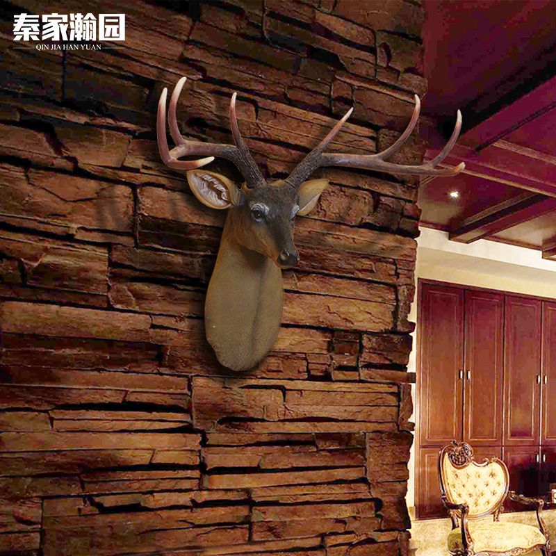 European american creative simulation deer retro living room wall hanging decorative wall mural wall hangings home bar