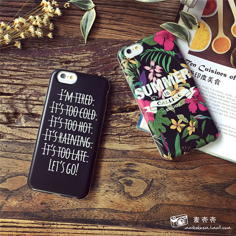 European and american style frosted silicone shell phone iphone6 plus soft shell protective shell protective sleeve 5s s
