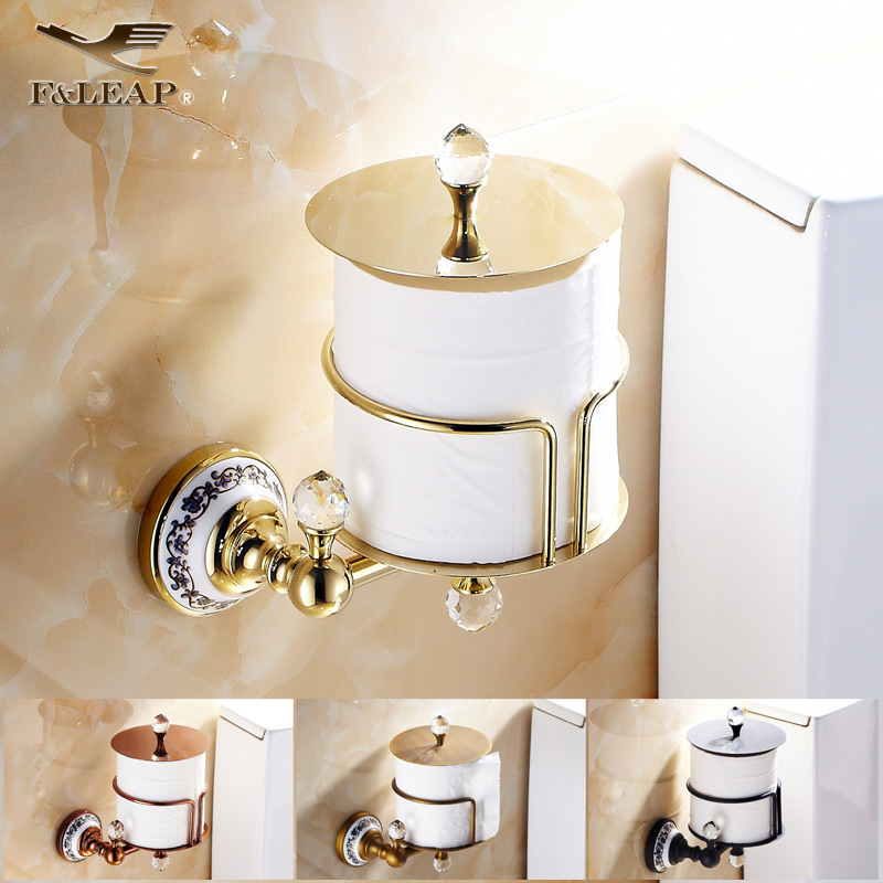 European bathroom black antique full copper gold rose gold towel rack roll holder toilet paper cassette toilet paper holder