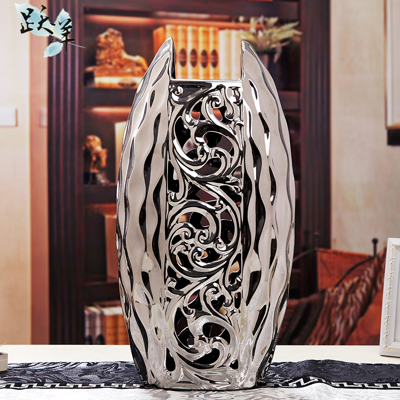 European ceramic floor vase table ornaments home crafts ornaments creative minimalist living room tv cabinet american