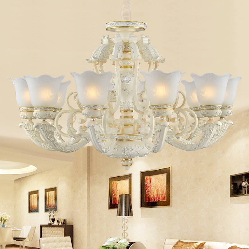 European chandeliers bedroom living room lights restaurant lights resin luxurious atmosphere jane european lighting fixtures villa white head 10