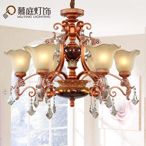 European chandeliers living room lights resin bedroom garden restaurant lighting jane european and american iron retro art atmospheric lighting