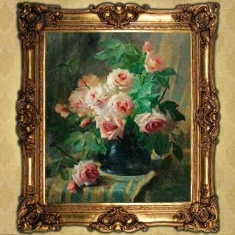 Get Quotations · European Classical Flower Painting Living Room Framed  Paintings Hotel Restaurant Entrance Decorative Painting Painted Fruit/