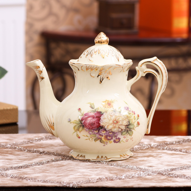 European coffee pot teapot ceramic tea set household high phnom penh large british ceramic kettle appliance outlets