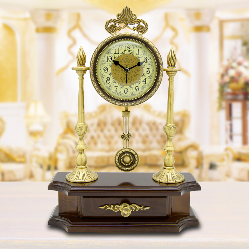 Get Ations European Copper Vintage Antique Clocks Table Clock Creative Living Room Mute Fashion Decorative Desk