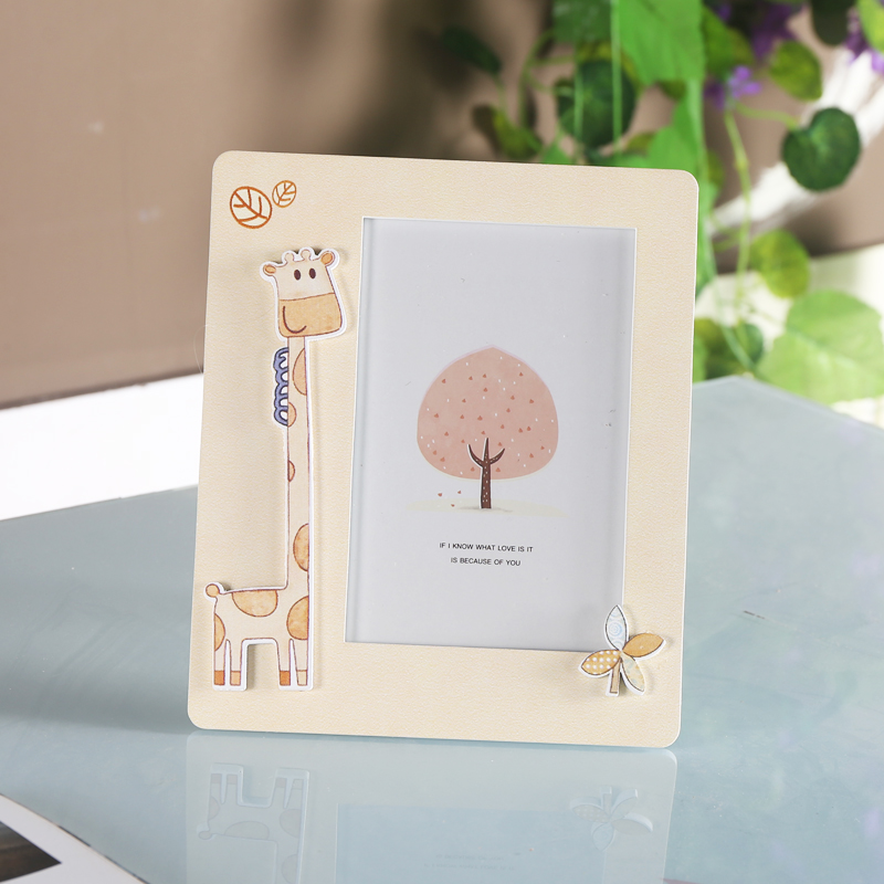 European creative children's seven solid wood frame swing sets 5 6 inch 7 inch photo frame baby photo frame cute cartoon