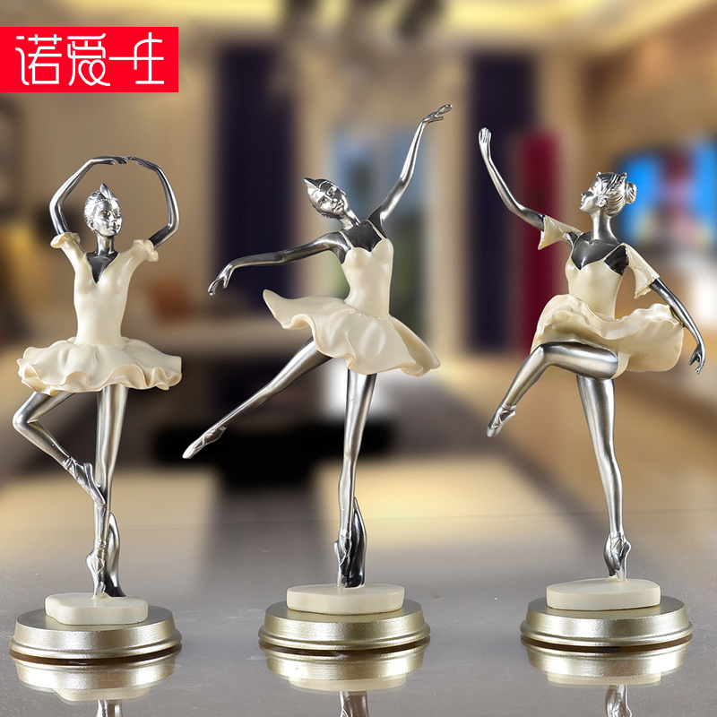 European creative dance room ballet girl figure resin ornaments crafts pendulum pieces of living room room decorations