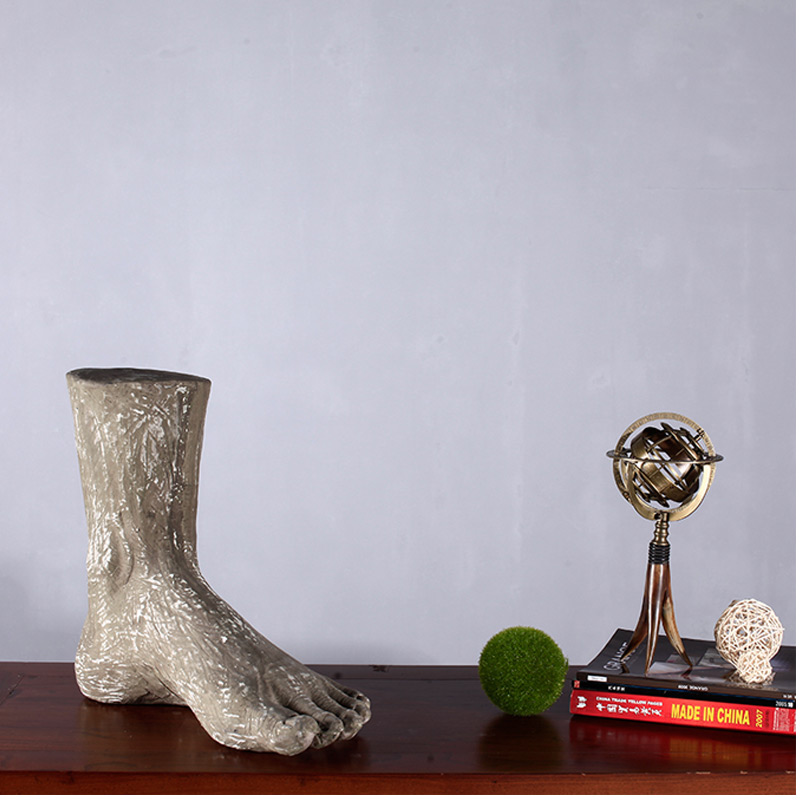 European creative living room ornaments crafts office desk ornament chinese study made of stone foot ornaments