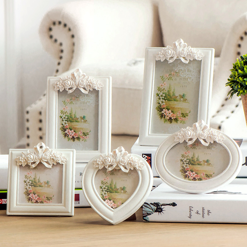 European creative personalized wedding photo frame photo frame baby children wooden photo frame swing sets