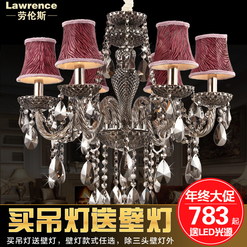 European crystal candle chandelier living room lamp bedroom luxury restaurant lights retro lamps lighting simple european
