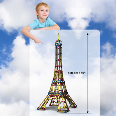 European imported iron eiffel tower model assembled plastic toy building blocks assembled children 9 years of age