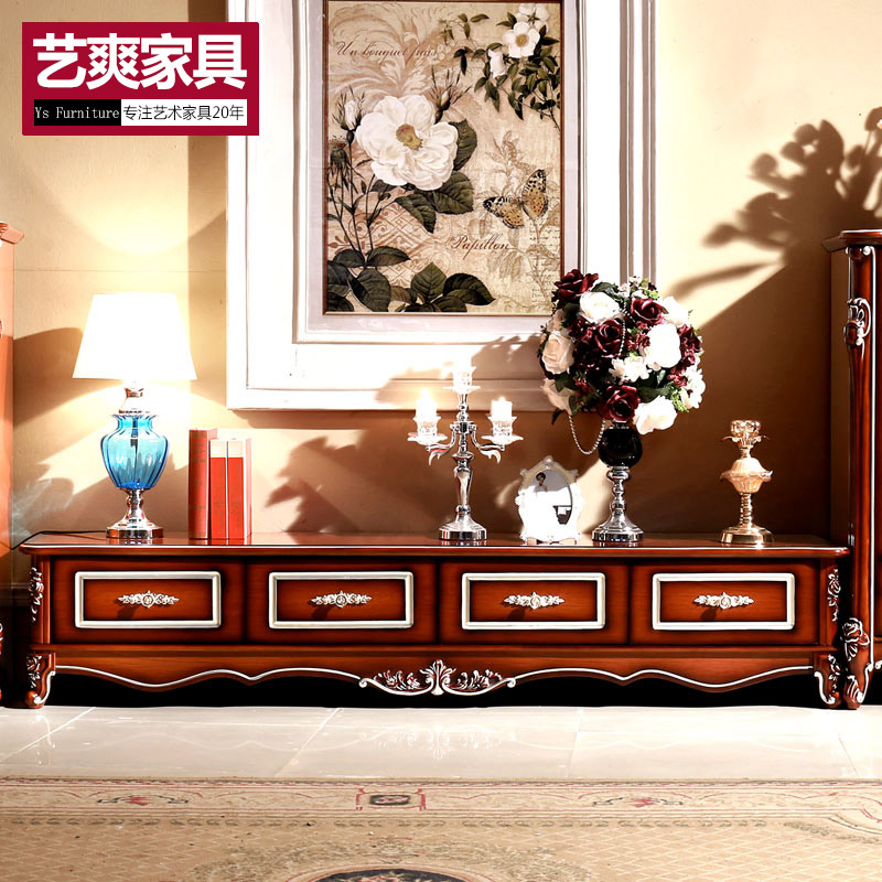 European marble wood board small french tv cabinet coffee table combination living room furniture cabinets aigui bedroom