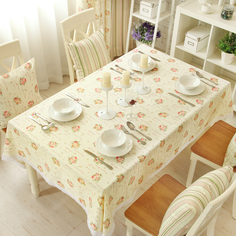 European pastoral cloth table linen sets gretl suit chair coffee table modern minimalist line lace tablecloth english roses
