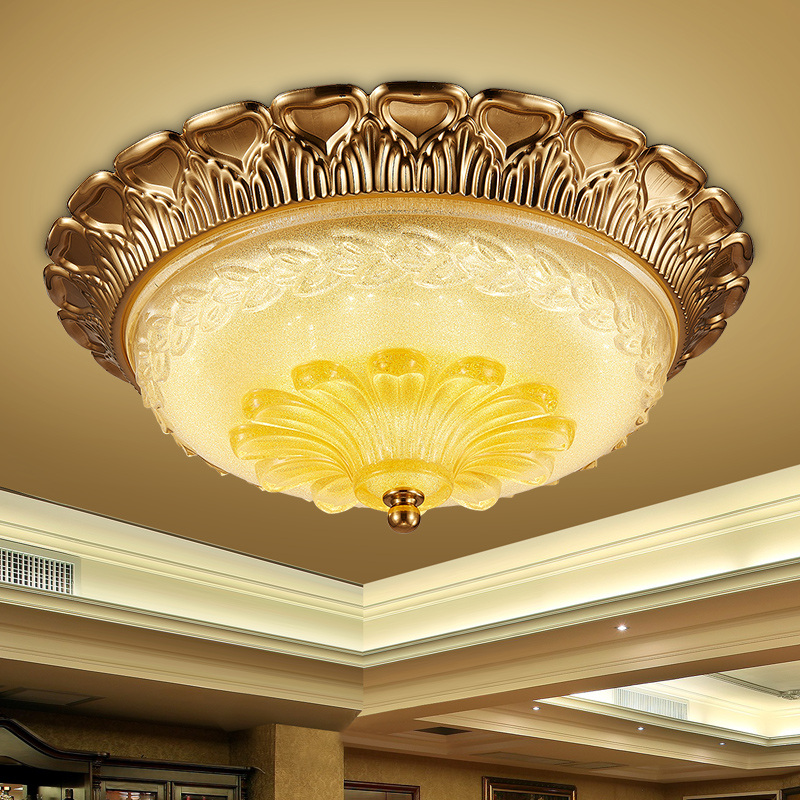 European pastoral led ceiling lamp bedroom ceiling light fixtures cozy children's room entrance balcony lights round study