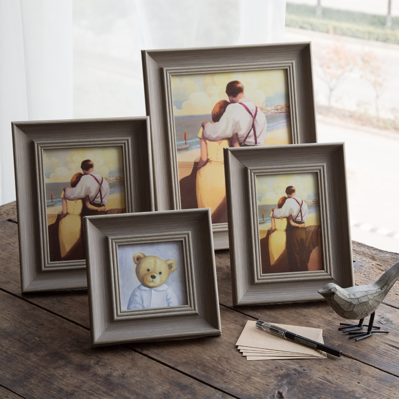 European polymer frame 6 inch 7 inch 10 inch square frame retro swing sets creative photo frame YK-61