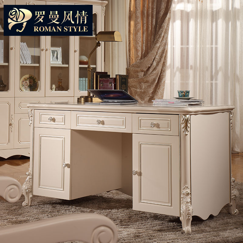 Get Ations European Roman Style Desk French Vintage Carved Desks With Drawers Home Office Computer