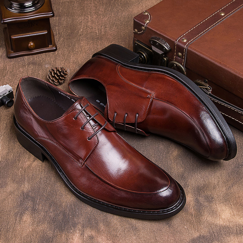 European version of men's british style business suits men pointed shoes breathable genuine cowhide leather men's shoes shoes