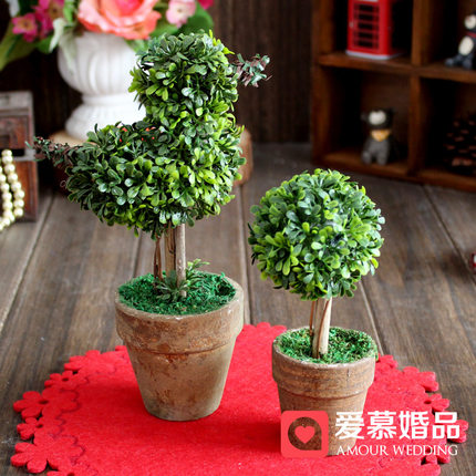 European wedding party decorations mini plants plants simulation wedding supplies favor gift sen female line