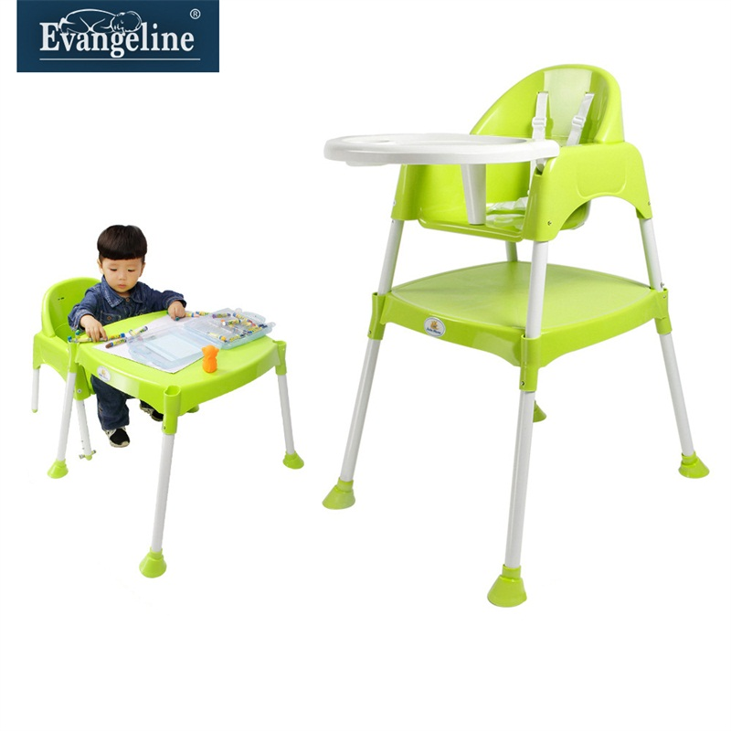 Evangeline plastic dining chair dining chair multifunction baby high chair baby dining chair children eat baby dinette dining chair combination of tables and chairs