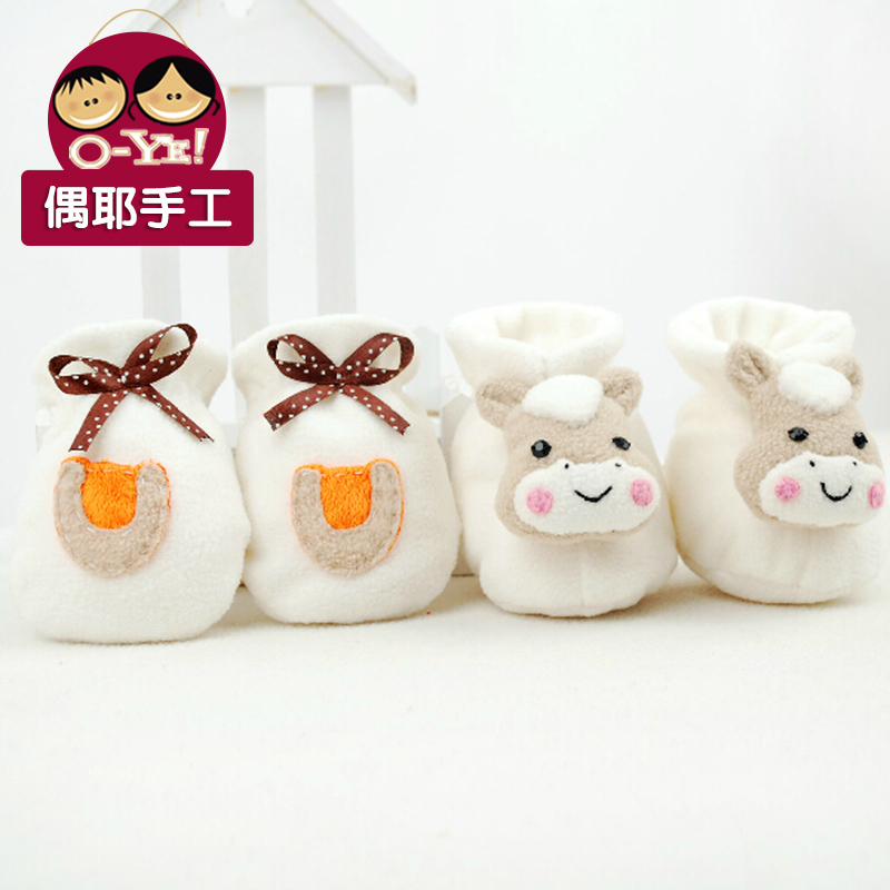 Even jesus diy handmade production of pregnant women baby horse baby booties gloves handmade baby supplies diy material package