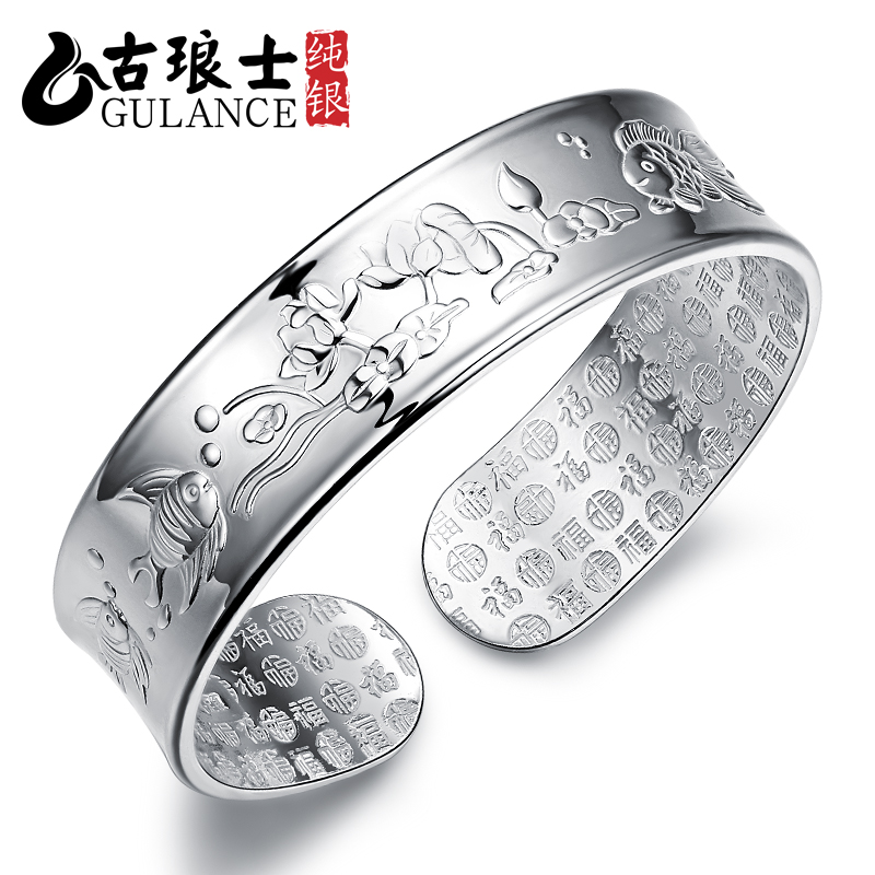Every year more than the old silver bracelet 999 fine silver bracelet fashion silver bracelet to send ms. yinzhuo