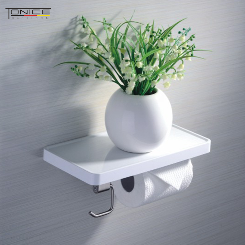 Excellent creative toilet flatbed multifunction stainless steel toilet paper holder toilet paper roll tissue box holder bathroom shelf