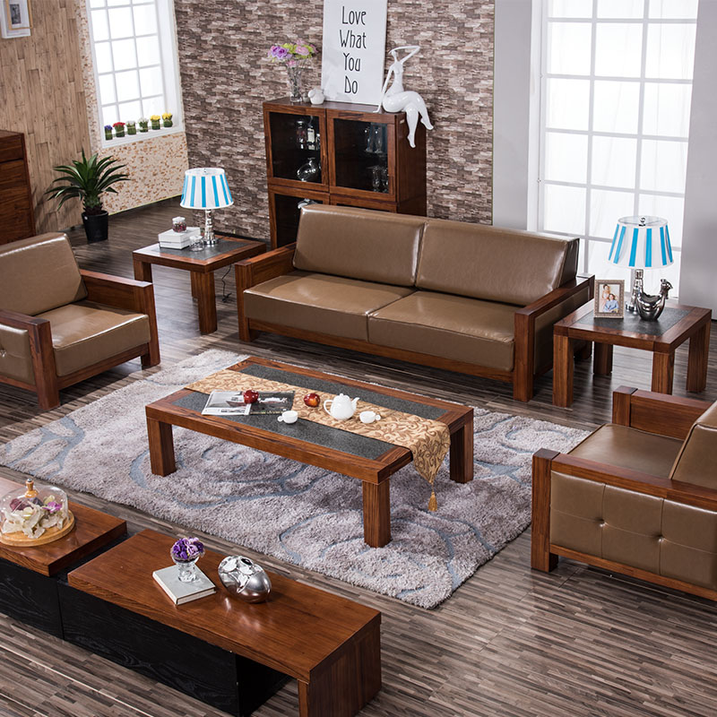 Get Quotations Excellent Love Modern New Chinese Wood Sofa Leather Combination Wooden Ugyen