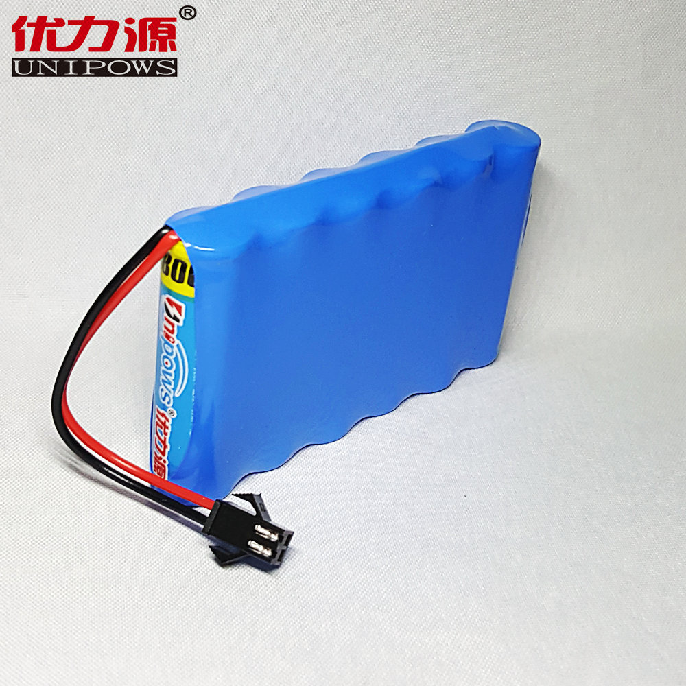 Excellent source of 1000 v battery toy car battery 5 mah single row combination with sm plug