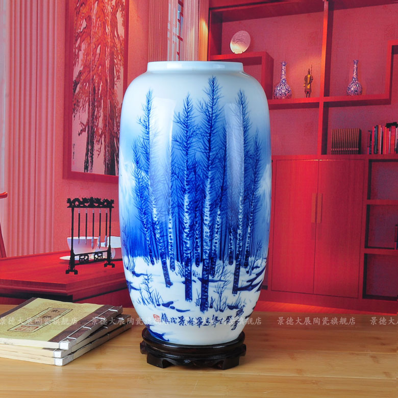Exhibition of jingdezhen ceramic black and white european modern minimalist living room floor large vase home decorations ornaments