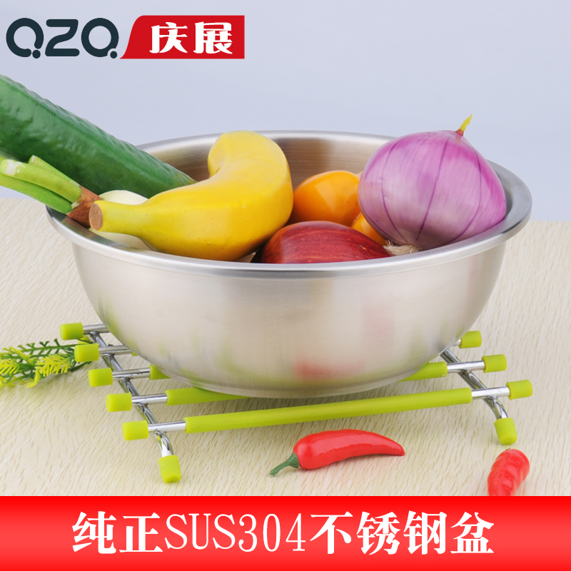 Exhibition to celebrate the genuine thick 304 stainless steel pots seasoning cylinder circular large soup bowl baking bowl beat egg pots seasoning