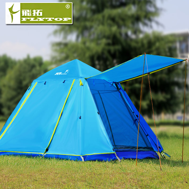 Extension of three or four double tent outdoor tent 2 people outdoor tent double automatic rain camping family suite