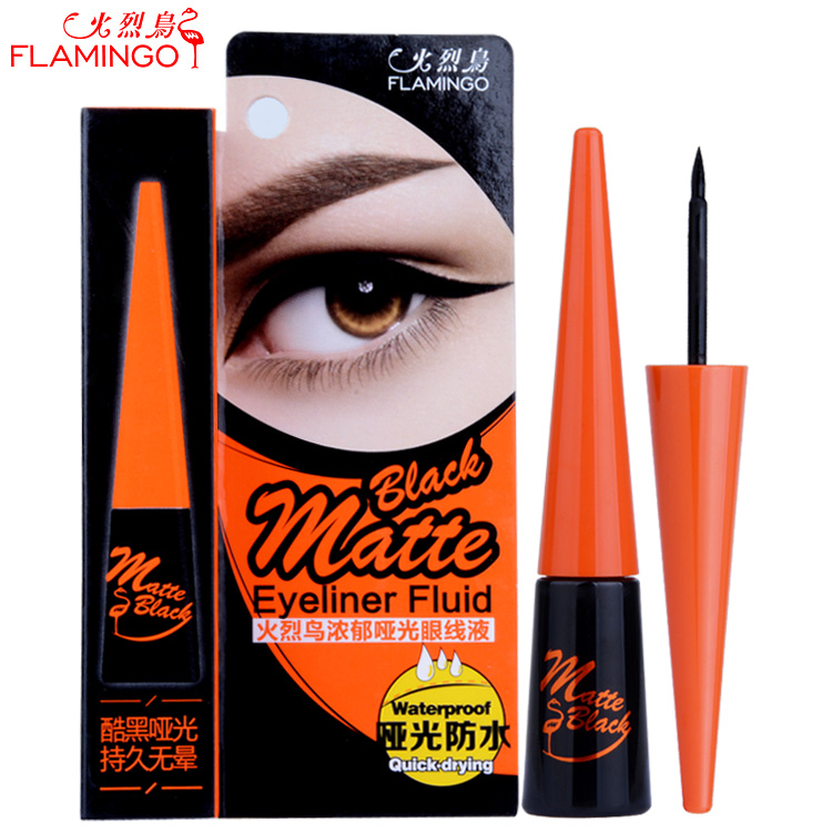 Eyeliner genuine mail flamingo rich matte matte matte steelhead lasting waterproof makeup is not blooming