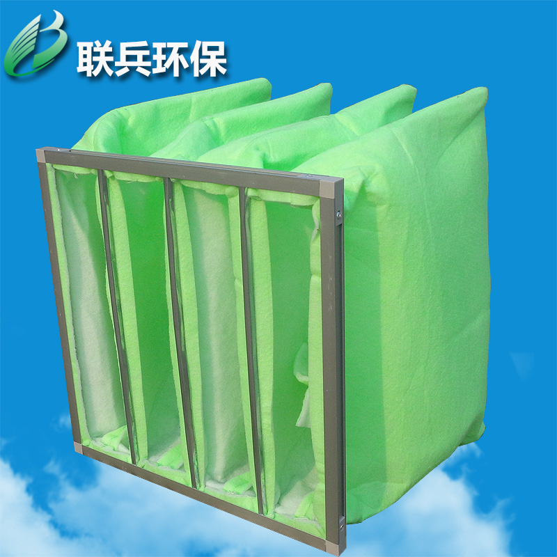 Factory outlets in the efficiency bag filter f6 efficiency green and white cotton filter bag green and white cotton bag filter
