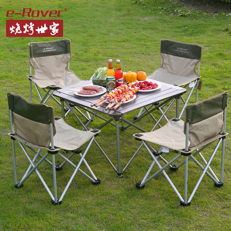 Family barbecue grill outdoor picnic tables and chairs outdoor folding table folding table portable aluminum folding table