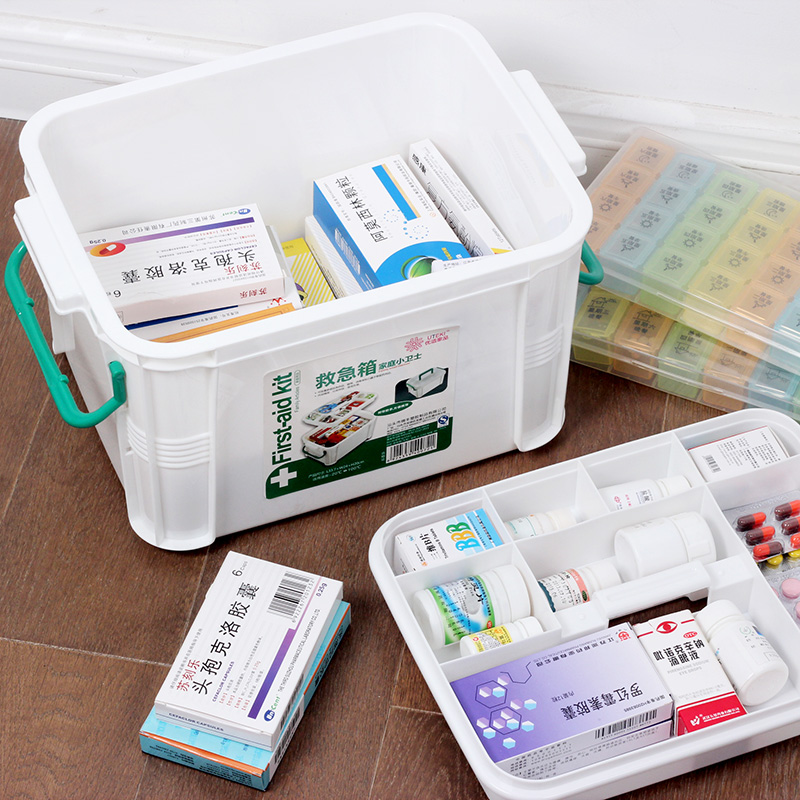 Family medicine chest with a large medical kits multilayer storage bao jianxiang first aid kit home medicine kits small plastic children